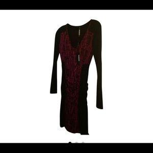 Plenty Tracy Reese Pink Black Bodycon Dress M